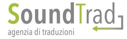 Logo con scritta AGENZIA
